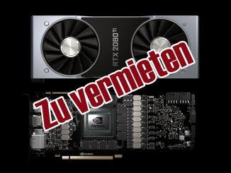 Nvidia RTX 2080 Ti zu vermieten