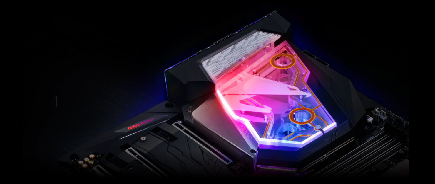 Gigabyte shows Z390 Aorus Xtreme Waterforce with integrated