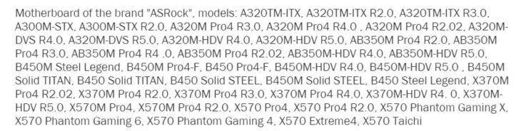 ASRock X570 Mainboards Leak