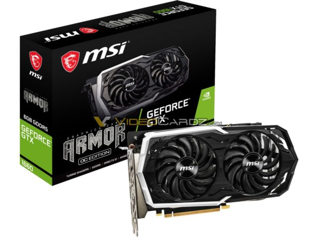 MSI GeForce GTX 1660 Armor