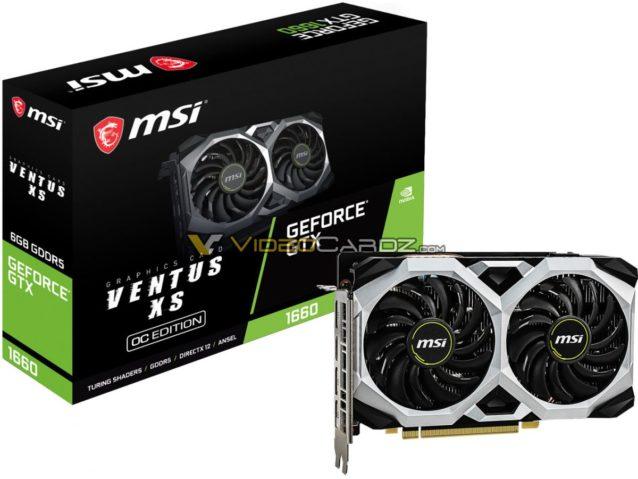 MSI GeForce GTX 1660 Ventus XS