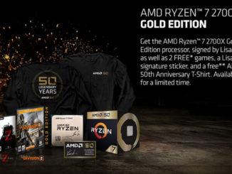 AMD 50th Anniversary Ryzen 7 2700X Gold Edition