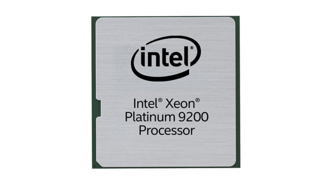 Intel Xeon Platinum 9200 Intel Xeon Platinum 9282