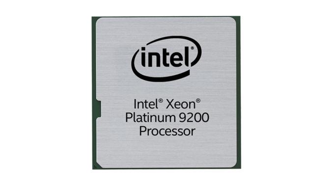 Intel Xeon Platinum 9200 Intel Xeon Platinum 9282