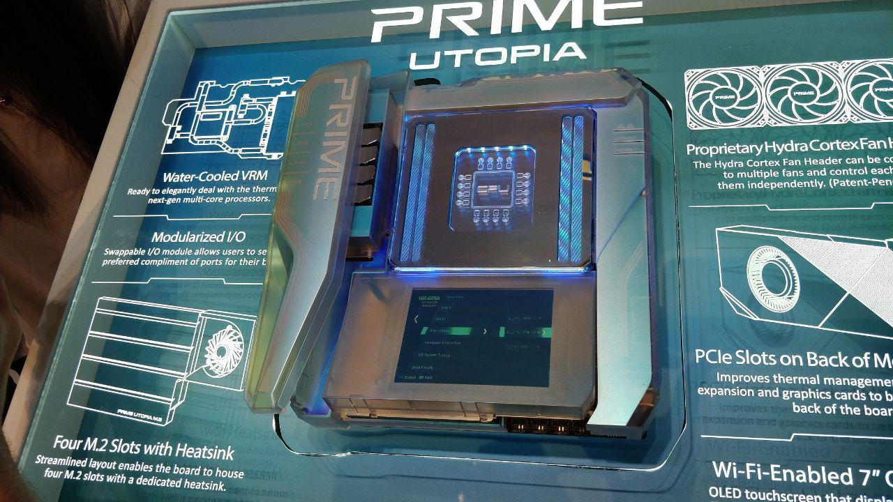 Prime Utopia: Asus presents motherboard concept with