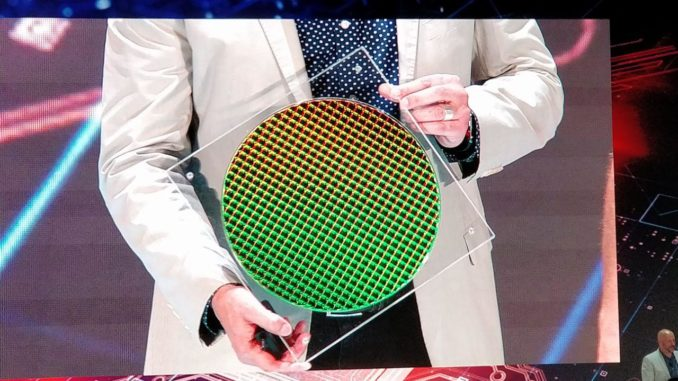 Intel Ice Lake 10nm Wafer Computex 2019