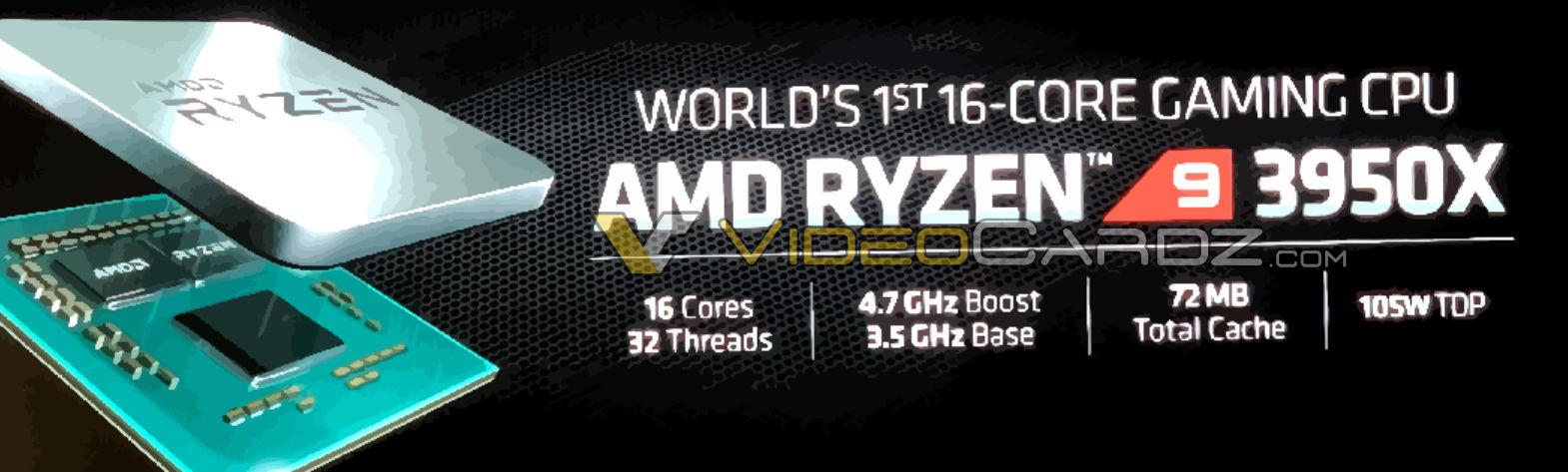 AMD Ryzen 9 3950X E3 2019 Leak