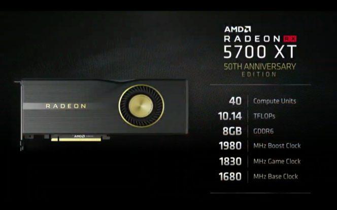 AMD Radeon RX 5700 XT 50th Anniversary Edition