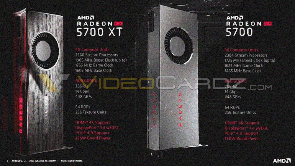 AMD Radeon RX 5700 XT Radeon RX 5700 Leak Specs