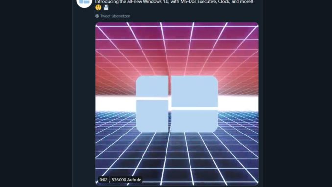 Microsoft Windows 1.0 Twitter Screenshot