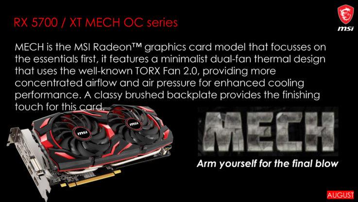 MSI AMD Radeon RX 5700 XT Custom Navi