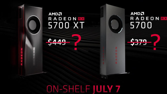 AMD Radeon RX 5700 XT Pricing