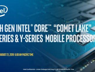 Intel Comet Lake 10th Generation