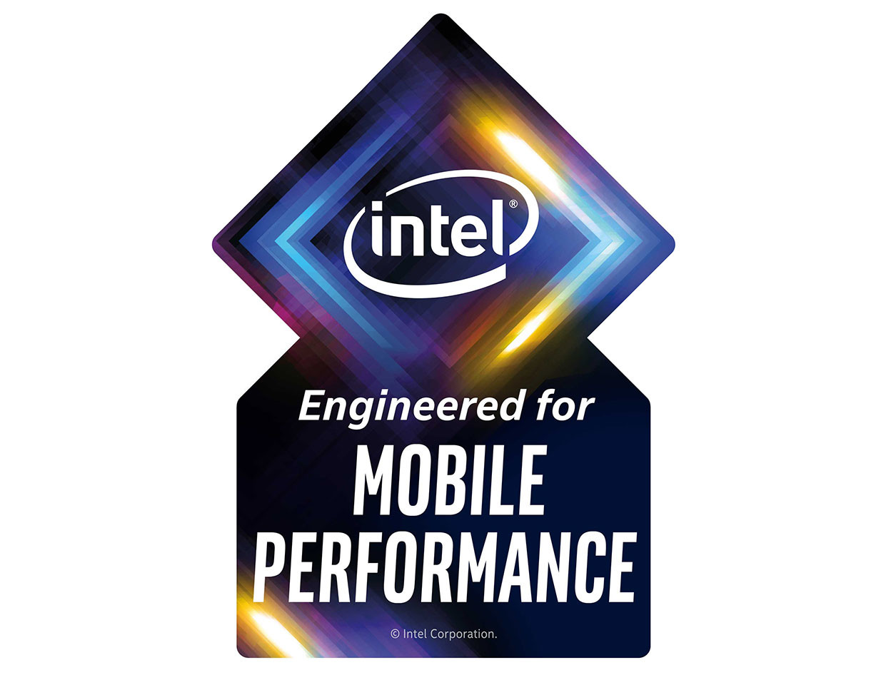 Intel Project Athena Sticker Engineered for Mobile Performance