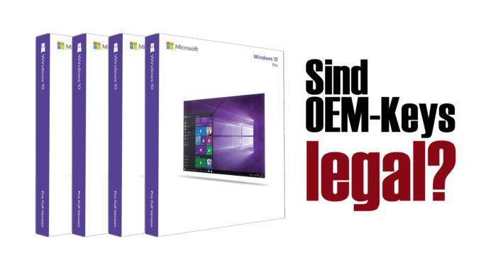 Windows 10 OEM Keys legal