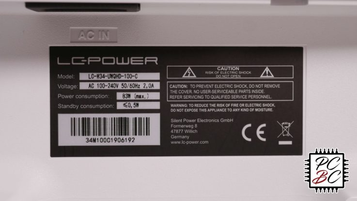 LC-Power LC-M34-UWQHD-100-C Review Label