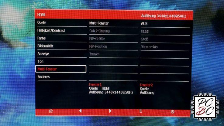 LC-Power LC-M34-UWQHD-100-C Review Menü