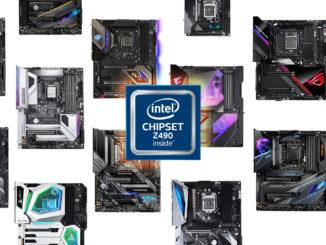 Z490 Motherboard Übersicht für Intel Comet Lake-S