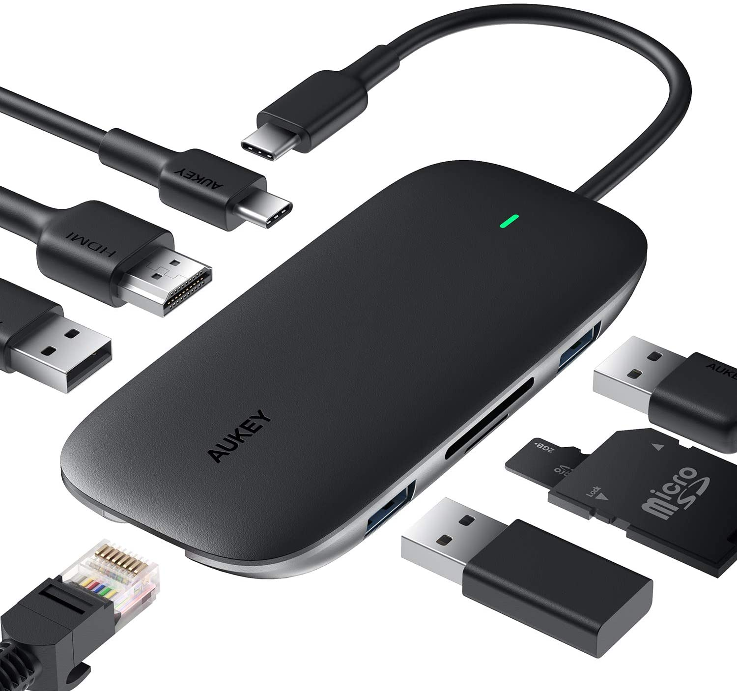 Aukey USB-C Dock Hub Homeoffice Büro