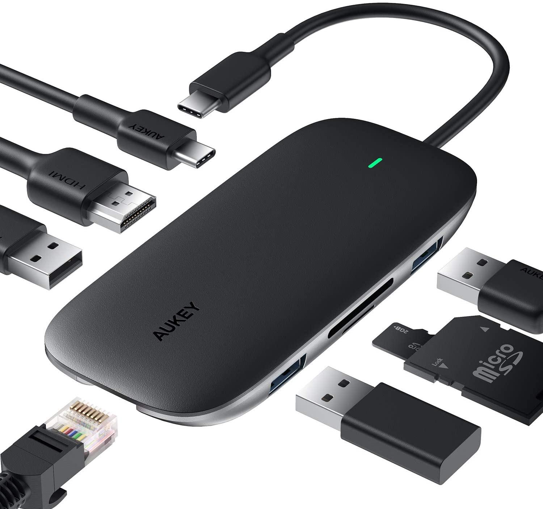 Aukey USB-C Dock Hub Homeoffice Büro