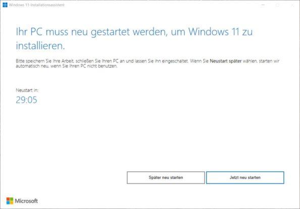 Windows 11 Update erzwingen forcieren Installations-Assistent