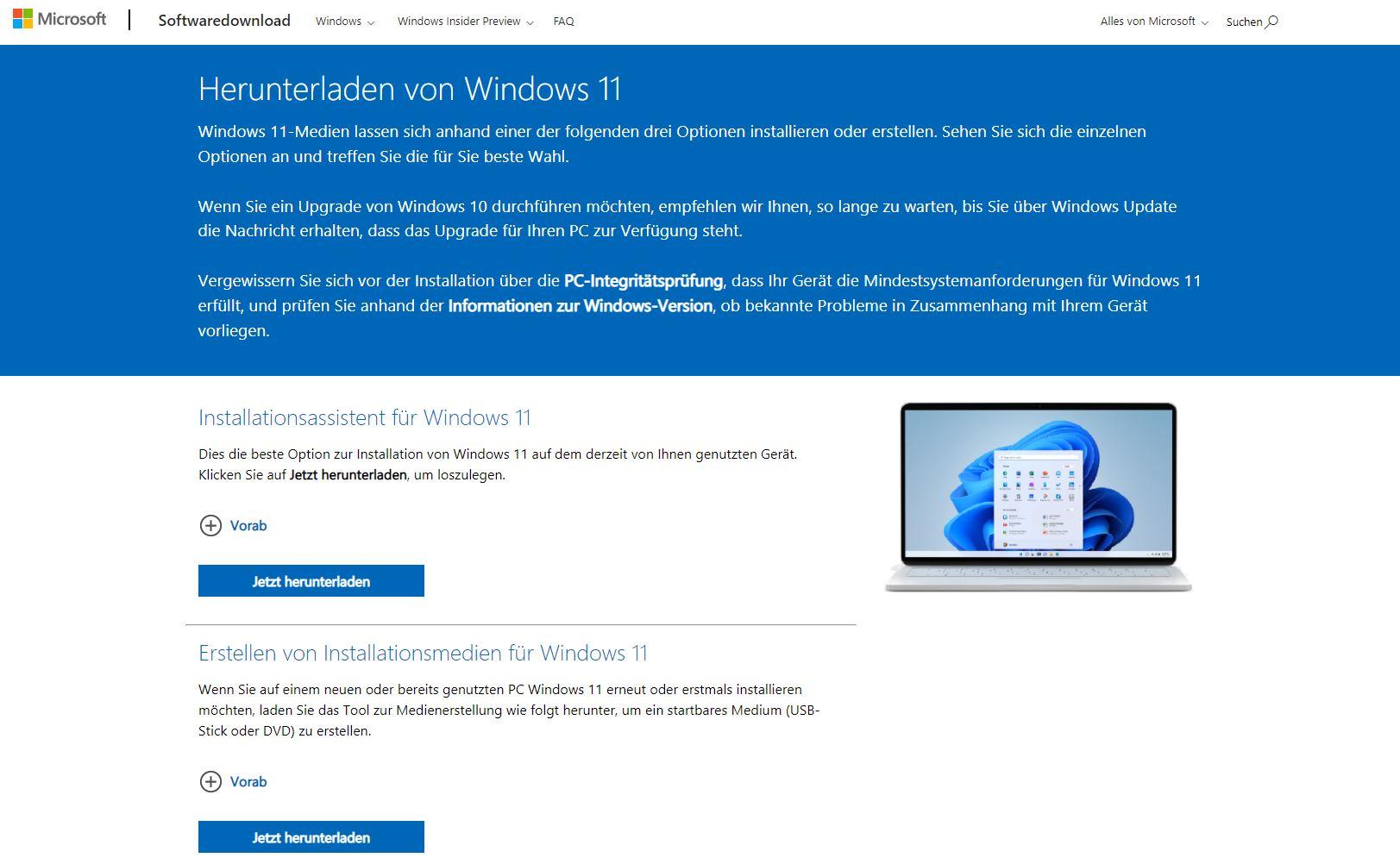 Windows 11 Media Creation Tool Installations-Assistent